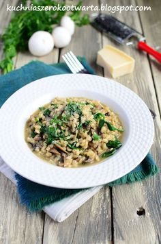 Kuchnia szeroko otwarta Risotto, Ethnic Recipes, Food, Essen, Yemek, Meals
