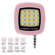 DizoneTMFashion Builtin 16 LED FLASH Lamp for iPhone SE 6 6S Plus Galaxy Note 5 S6 Camera Phone Multiple Photography SYNC fillin lightPink ** Read more  at the image link. Note: It's an affiliate link to Amazon.