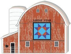 Candabean Collectibles  - Cat's Meow Village Amish Star Quilt Barn