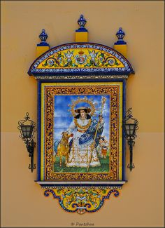Sevilla : Triana : Santa Ana azulejos---saw these on every house and wanted one so bad. Maybe one day I can return to Spain and get one! ms