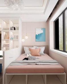 Small Room Design Bedroom, Small Bedroom Interior, Small House Interior Design, Room Ideas Bedroom, Home Room Design, Bedroom Decor, Small Bedroom Layouts, Bed Room, Bedroom For Kids