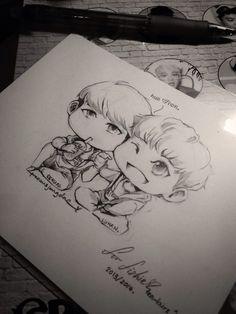 Hunhan drawing Hunhan, Exo, Fanart, Drawings, Fan Art, Sketches, Drawing, Portrait, Draw