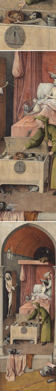"Hieronymous Bosch ""Death and the Miser"""