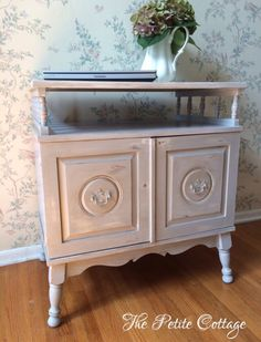 Nightstand painted in Annie Sloan Paris Grey Chalk Paint Decor, Furnishings, Shabby Chic Decor, Furniture, French Cottage Decor, Coastal Cottage, Gray Chalk Paint, Cottage Decor, Cottage