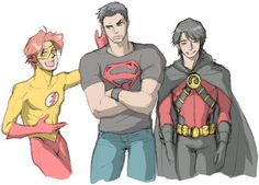 Sincs these three started the young justice group in the comics