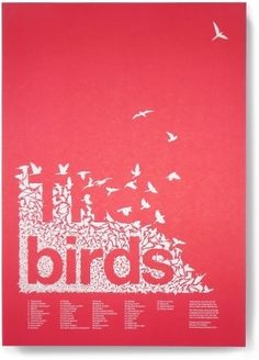 The Birds by Hitchcock. A truly amazing piece of typography to introduce the contents page.