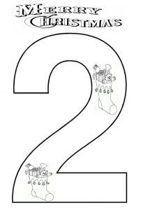 number-2-coloring-page