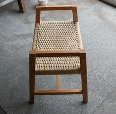 ペーパーコードスツール 立つ座るサポート椅子│オーダー家具製作所 アイコー家具工房 よっくんぱぱの日記
