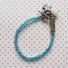 Sparkling blue lucky charm bracelet only $14.95 by WithLoveFromLiz