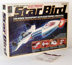 Star Bird was, unquestionably, my favorite toy as a kid! I actually remember opening up this gift on Christmas in 1979 (?) and played with . 1970s Toys, Retro Toys, Vintage Toys, Retro Games, 1970s Childhood, Childhood Toys, Childhood Memories, Old School Toys, Star Wars Merchandise