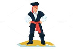 Standing Pirate by ChristobalMikhovski on @creativemarket