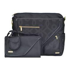 JJ Cole Metra Bag in Black/Gold - buybuyBaby.com