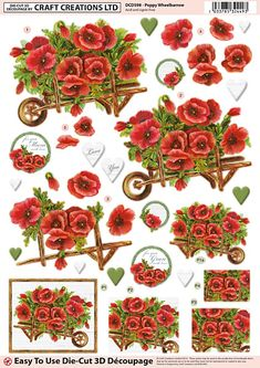 Poppy Wheelbarrow - DCD598