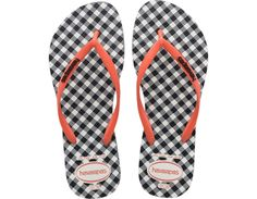 <p>The Slim Retro features a twist on the classic stripes and plaids. A contrast Havaianas logo on the strap adds extra style and our signature textured footbed adds comfort.</p><ul><li>Thong style</li><li>Cushioned footbed with textured rice pattern and rubber flip flop sole</li><li>Made in Brazil</li></ul>