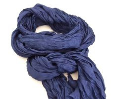 Navy Blue Silk Scarf, Large Blue Scarf, Extra Long Navy Silk Scarf, Navy Scarf, Spring Summer Wedding Shawl, Silk Crinkle Scarf, Bridesmaids by TheChicArtisan on Etsy https://www.etsy.com/listing/222551154/navy-blue-silk-scarf-large-blue-scarf