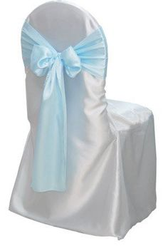 Spring Rose(TM) White Satin Banquet Wedding Chair Covers for Round Top Chairs (set of 10). Chair Sash is Not Included.