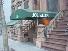 Joe Allen's 46th Street NYC. Great place for steak and drinks after a broadway show.