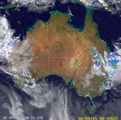 National Radar image:     09:38 UTC  Thu 30 Apr 2015