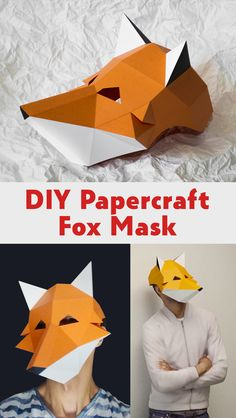 3D Papercraft DIY Fox Mask