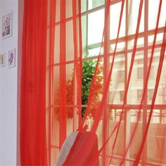 A10 2 PCS Pure Color Leaf Pattern Tulle Door Window Curtain Drape Panel Sheer Scarf Valances wholesale high quality