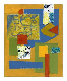Waiting for Spring by Joan Gillman Smith. Acrylic and collage of painted papers, 8x10 inches.