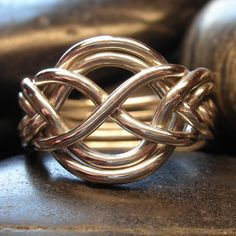 Sterling silver six band puzzle ring  Wider style by nellyvansee, $98.00