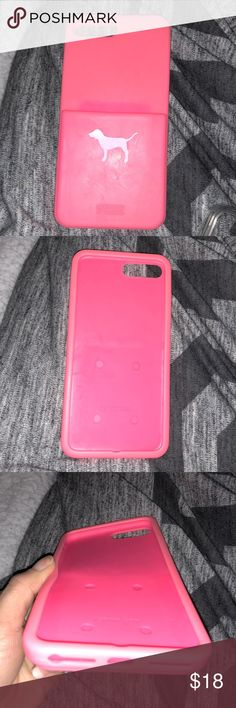 Vs Pink Iphone 7 Plus Case Used w lots of love :) Has pocket ID holder.  I no longer used my wallet bc of this case :) PINK Victoria's Secret Accessories Phone Cases