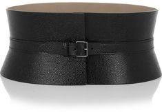 Black Leather Waist Belt by Alaia. Buy for $1,310 from NET-A-PORTER.COM