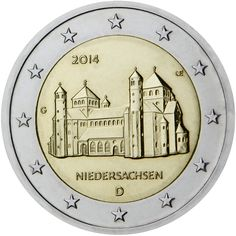 Germany 2014 - Niedersachsen from the 'Lander' series. Mintage 30,000,000 (5 different mints, i.e. 6,000,000 from each)