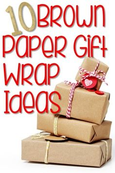 10 Brown Paper Gift Wrap Ideas