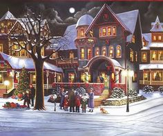 christmas scenes pictures - Google Search