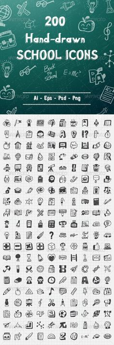 Buy 200 Hand Drawn School Icons by iconsoul on GraphicRiver. This set contains 200 hand-drawn school icons. Doodle Drawings, Doodle Art, Visual Note Taking, School Icon, Doodles, Doodle Icon, Doodle Lettering, Photoshop, Sketch Notes