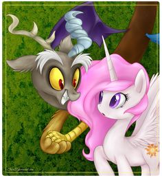 Discord and Celestia - My Little Pony Shipping Is Magic Fan Art ...