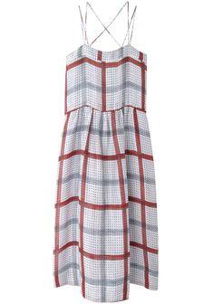 Isabel Marant Étoile Renee Cami Dress | La Garçonne - love the huge plaid, restructure the top