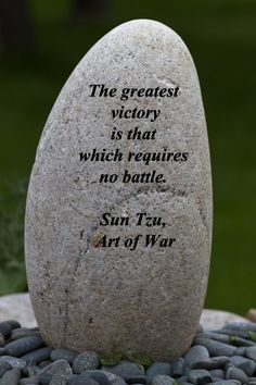 """""""The greatest victory is that which requires no battle.""""  -- Sun Tzu – On image from Gampo Abbey, Nova Scotia, Canada, taken by Florence McGinn – Explore insightful quotes from creative spirits such as Leonard Cohen, Pink Floyd, Eric Clapton, Van Morrison, and others at http://www.examiner.com/article/travel-a-road-of-literate-quotes-about-the-journey"""
