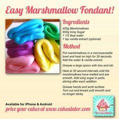 Easy Marshmallow Fondant Recipe