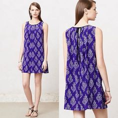 Shop Women's Anthropologie size S Dresses at a discounted price at Poshmark. Description: Beautiful dress from Anthropolgie, size women's Xsmall but this can fit up to a medium-it's a loose flowy style, great condition with no flaws, loose style, purpleish blue with white detail, ties in back by neck. Bundle to save or place an offer if you don't like the price.. Sold by lnation818. Fast delivery, full service customer support.