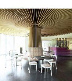 Essig's. Corporate Interior Design, Corporate Interiors, Commercial Interior Design, Commercial Interiors, Office Interiors, Column Covers, Ceiling Materials, Plafond Design, Column Design