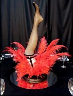 burlesque party ideas | Moulin Rouge Party Theme Props: Burlesque Table Centre