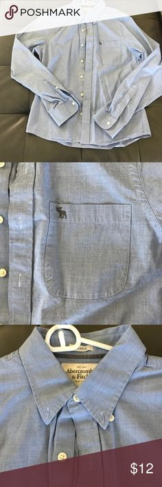 """Men's Abercrombie & Fitch button down EUC; """"muscle"""" button down. hardly worn. No tears/stains. Abercrombie & Fitch Shirts Casual Button Down Shirts"""