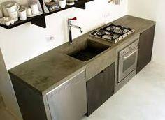 Resultado de imagen para cocina de concreto