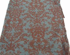 Dark Rust and Gray Damask Inspired Burnout Knit by felinusfabrics