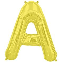 Brighten up any occasion with these fun and shiny gold foil 16'' letter balloons. Just inflate with air using the included plastic straw and easy self seal, and