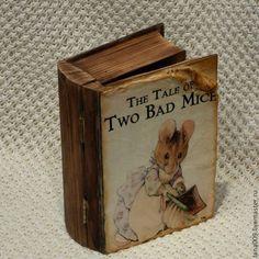 """Купить Книга-шкатулка """"Хозяюшка"""" серия мышиные истории - книга-шкатулка, шкатулка, шкатулка для украшений"""