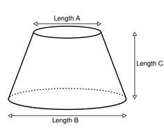 Online calculator for making a flat cone. For instance cutting a guard from thin sheet metal to make a cone that prevents squirrels from reaching your bird feeder. Metal Projects, Welding Projects, Metal Crafts, Online Calculator, Cone Template, Sheet Metal Work, Sheet Metal Fabrication, Metal Bending, Drawing Techniques