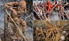The smoked corpses of Papua New Guinea - Okay, so these are not some halloween prop, but they certainly are hauntingly creepy.