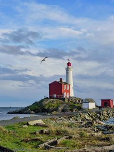 Art prints for sale...  This is a photo of the Fisgard Lighthouse National Historic Site in Victoria, British Columbia. This was the first lighthouse on Canada's Pacific coast, built in 1859.