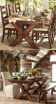Toscana Dining Room Table   Tuscan Chestnut Pottery Barn $599 Trestle Table  Evokes A 19th