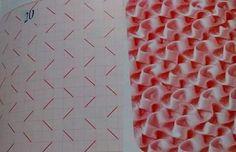 Capitone Smocking Tutorial, Smocking Patterns, Doll Dress Patterns, Dress Making Patterns, Embroidery Patterns Free, Crochet Stitches Patterns, Doily Patterns, Hand Embroidery, Stitch Patterns