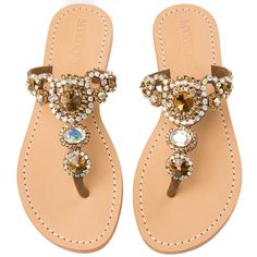 Mystique Sandals features unique hand crafted leather women's sandals that are embellished with jewelry Shoes Flats Sandals, Leather Sandals, Shoe Boots, Sandals Outfit, Mystique Sandals, Pretty Sandals, Shoes World, Jeweled Sandals, Shoes With Jeans